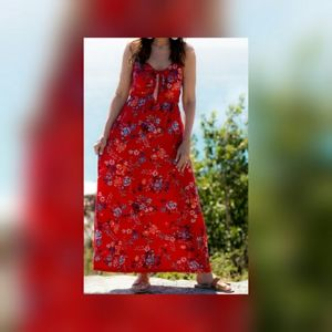 Allison joy Red floral maxi